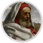 Eliezer Of Damascus Round Beach Towel by William Dyce
