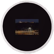 Elisabeth Bridge Budapest Round Beach Towel