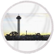 Elitch Gardens Night 2 Round Beach Towel