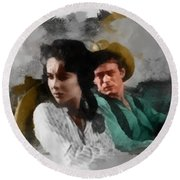Elizabeth And James - Giant Round Beach Towel