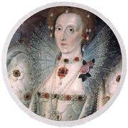 Elizabeth I Of England Round Beach Towel