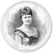 Elizabeth Of Romania (1843-1916) Round Beach Towel