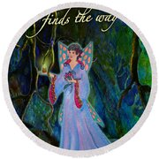 Ella Rose-courage Lights The Way Round Beach Towel