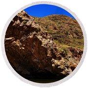 Ellery Creek- Outback Central Australia V2 Round Beach Towel