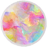 Eloquence - Abstract Art Round Beach Towel