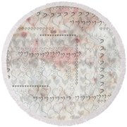 Elusive Love Round Beach Towel