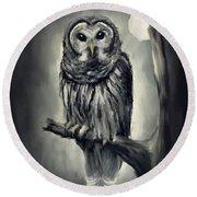 Elusive Owl Round Beach Towel