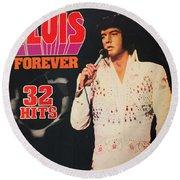 Elvis Album Round Beach Towel