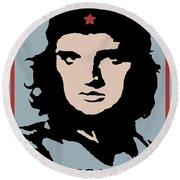 Elvis Che Guevara Viva Las Vegas Round Beach Towel