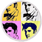 Elvis Pop X Four Round Beach Towel