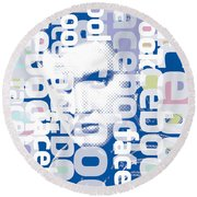 Elvis Presley On Facebook Round Beach Towel