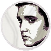 Elvis Presley Portrait Art Round Beach Towel