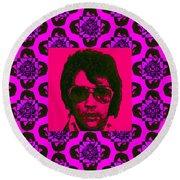 Elvis Presley Window M88 Round Beach Towel