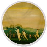 Elysian Fields Round Beach Towel