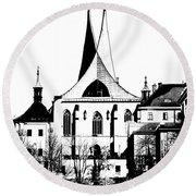 Emauzy - Benedictine Monastery Round Beach Towel