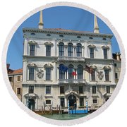 Embassy Building Venice Italy Round Beach Towel