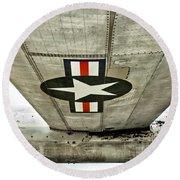 Emblem Underneath Round Beach Towel