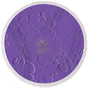 Embossed Bouquet  Round Beach Towel