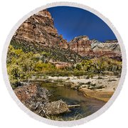 Emeral Pools Trail - Zion Round Beach Towel