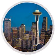 Emerald City Evening Round Beach Towel