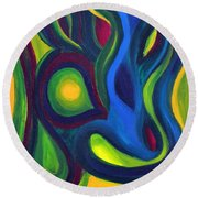 Emerald Dreams Round Beach Towel