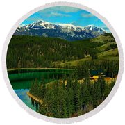 Emerald Lake - Yukon Round Beach Towel