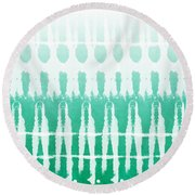 Emerald Ombre  Round Beach Towel