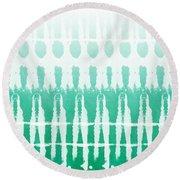 Emerald Ombre  Round Beach Towel