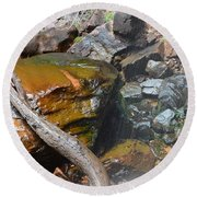 Emerald Pools Close Up Round Beach Towel