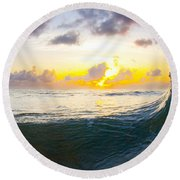 Emerald Rogue Round Beach Towel by Sean Davey