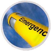 Emergency Round Beach Towel