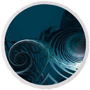 Emerging From The Depth Round Beach Towel