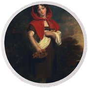 Emily Anderson Little Red Riding Hood Round Beach Towel