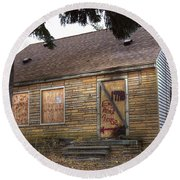 Eminem's Childhood Home Taken On November 11 2013 Round Beach Towel
