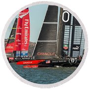 Emirates And Oracle Round Beach Towel