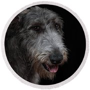 Irish Wolfhound II Round Beach Towel