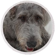 Irish Wolfhound IIi Round Beach Towel