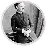 Emma Wedgwood Darwin (1808-1896) Round Beach Towel