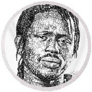 Emmanuel Jal Round Beach Towel