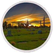 Emmett Cemetery Round Beach Towel