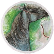 Emon Polish Arabian Horse 1 Round Beach Towel