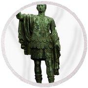 Emperor Marcus Cocceius Nerva Round Beach Towel