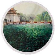 Emperor's Summer Palace Round Beach Towel