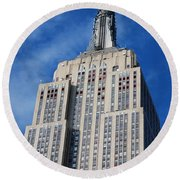 Empire State Building - Nyc Round Beach Towel