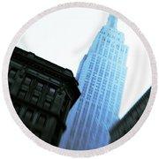 Empire State Building Round Beach Towel