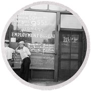 Employment Bureau, 1937 Round Beach Towel