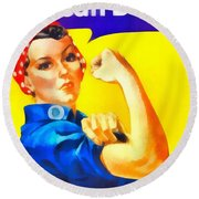 Empowerment Round Beach Towel by Dan Sproul