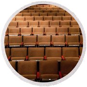 Empty Theater Chairs In Ventura Arts Round Beach Towel