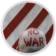War Protest Round Beach Towel