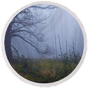 Enchanted Mist - Casper Mountain - Casper Wyoming Round Beach Towel